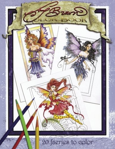 Amy Brown Faeries Coloring Book