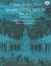 Load image into Gallery viewer, Piano Concertos Nos. 23-27 In Full Score (Dover Music Scores)