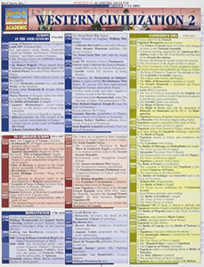Western Civilizations 2 Laminated Reference Guide (Quickstudy: Academic)