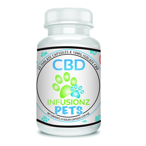 CBD Infusionz CBD Isolate Pet Capsules - 25 ct. - 250 MG/Bottle