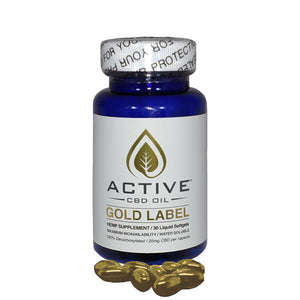 Active CBD Oil 30 ct. CBD Oil Capsules - 750 MG/Bottle
