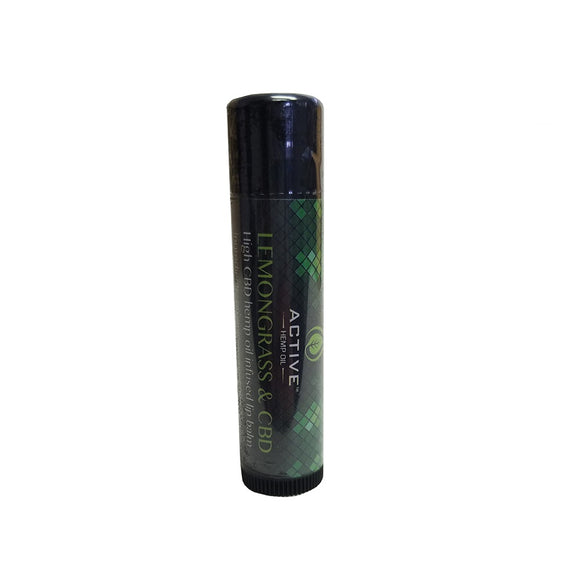 Active CBD Oil Hemp Oil Infused Lemongrass Lip Balm - 1.5 MG/Stick