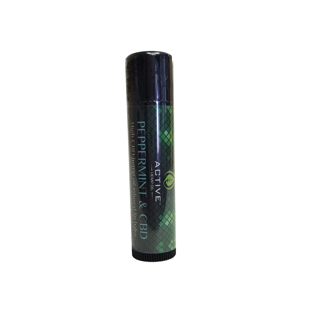 Active CBD Oil Hemp Oil Infused Peppermint Lip Balm - 1.5 MG/Stick