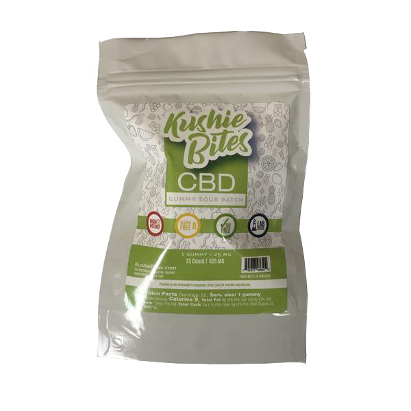 Kushie Bites 25 ct. Sour Patch Kids - 625 MG/Bag