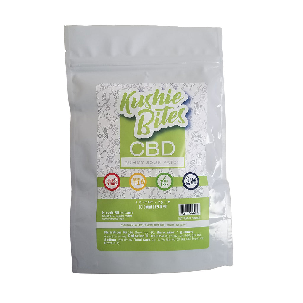 Kushie Bites 50 ct. Sour Patch Kids - 1250 MG/Bag