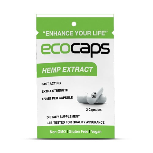 CBD Drip 2 ct. Ecocaps Travel Pack - 260+ MG/Pack