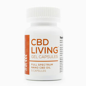 CBD Living Gel Capsules - 5 ct. - 125 MG/Bottle