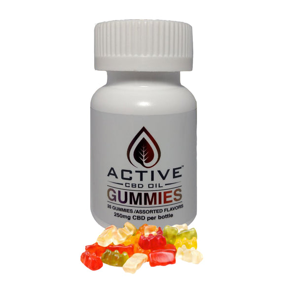 Active CBD Oil 25 ct. Gummies - 250 MG/Bottle