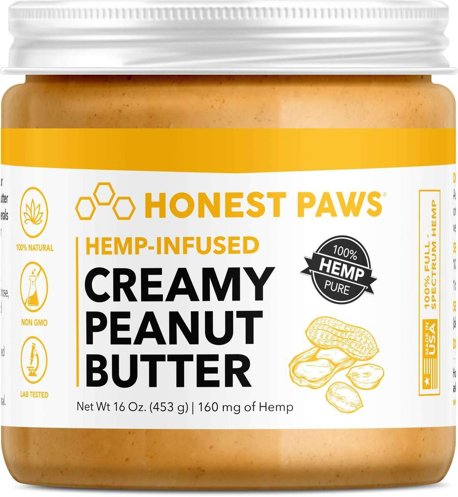 Honest Paws 16oz CBD-Infused Creamy Peanut Butter - 160MG/Container
