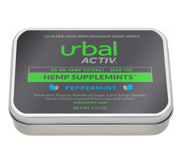 Urbal Activ 12 ct. CBD Peppermint Mints - 60 MG/Container