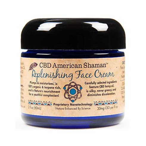 CBD American Shaman Replenishing Face Cream - 60 MG/Container