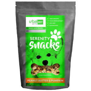 Urbal Activ Small Dog CBD Treats - Peanut Butter & Pumpkin - 25 MG/Bag