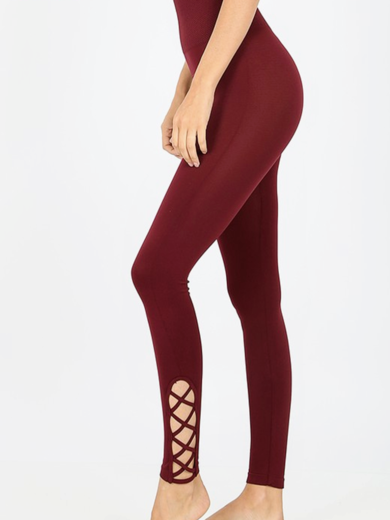 Dark Burgandy Leggings
