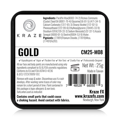 Kraze FX Face Paint - 25 gm - Metallic Gold