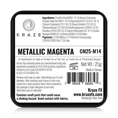 Kraze FX Face Paint - 25 gm - Metallic Magenta