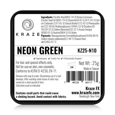 Kraze FX Paint - 25 gm - Neon Green