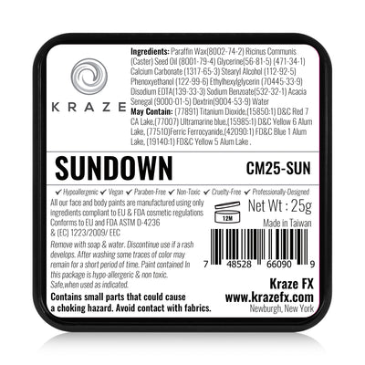 Kraze FX Domed Split Cake - 25 gm - Sundown