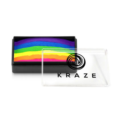 Kraze FX Domed 1-Stroke Neon Split Cake - 25 gm - Bright Neon