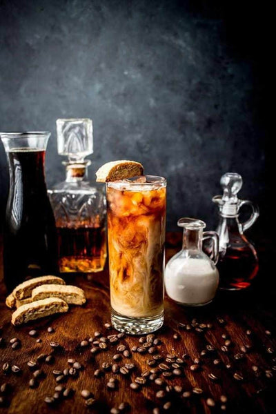 Almond Biscotti Iced Coffee Cocktail