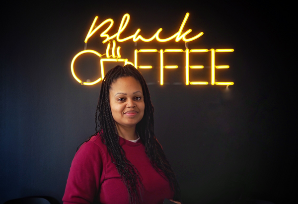 Black Coffee Fort Worth owner, Mia Moss at her cafe