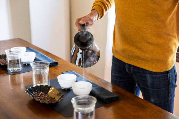 Corvo EKG Electric Kettle for cupping coffee