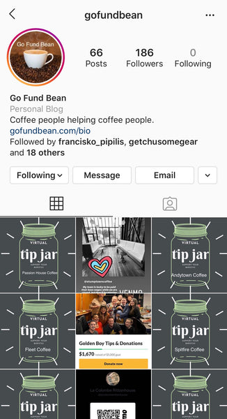 GoFundBean Instagram Account