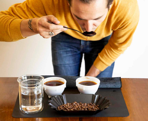 How to slurp coffee during cuppings