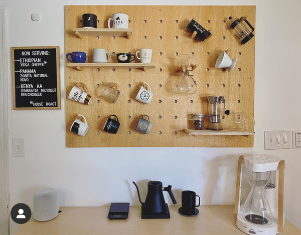 Home coffee bar inspired by a cafe