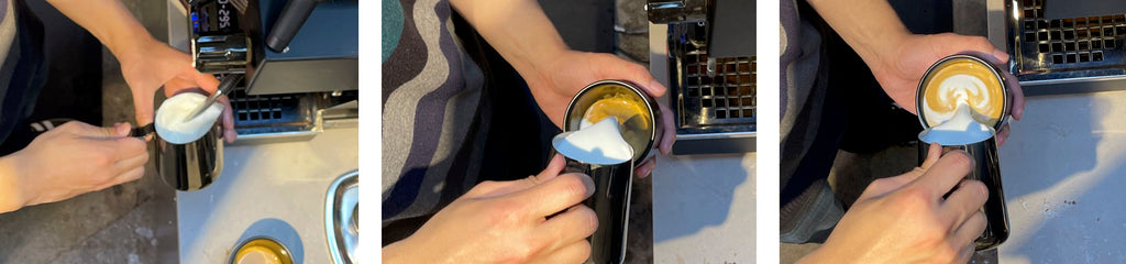 Steaming and executing latte art