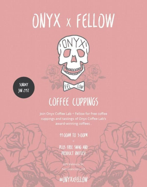 Poster for Onyx x Fellow Brew Master Class Weekend Cuppings