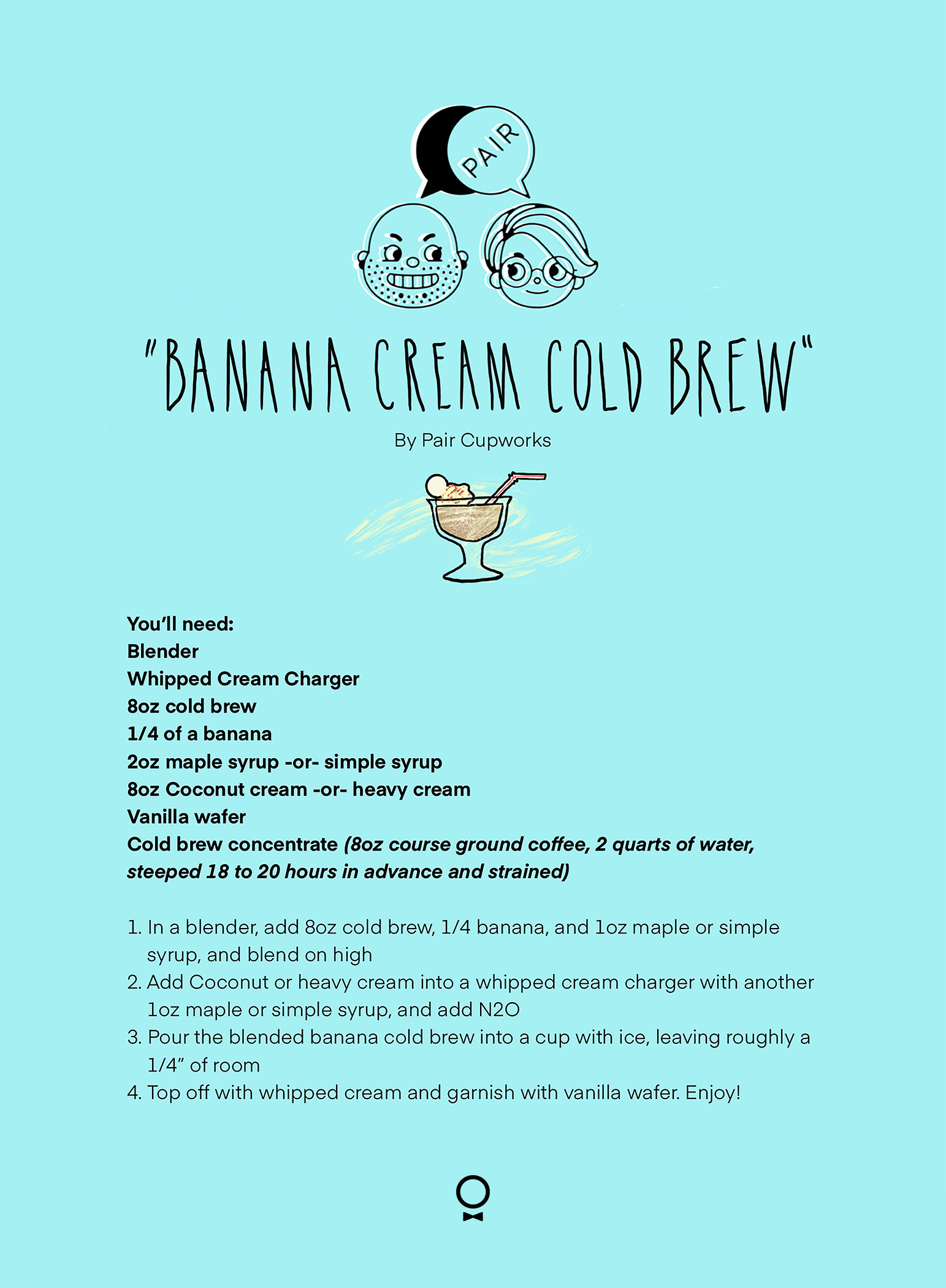 Pair Cupworks Banana Cream Cold Brew Recipe