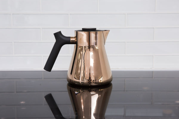 Fellow Raven Stovetop Tea Kettle and Steeper in Copper
