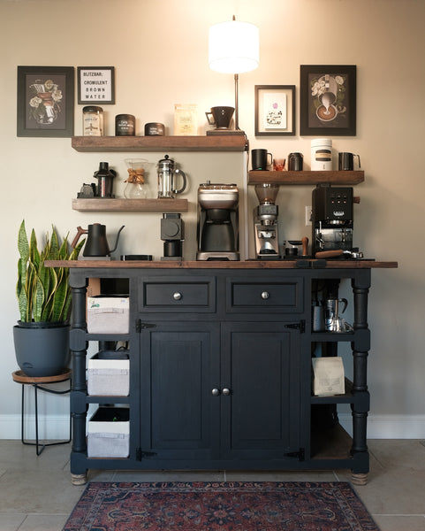 Home pour-over coffee station