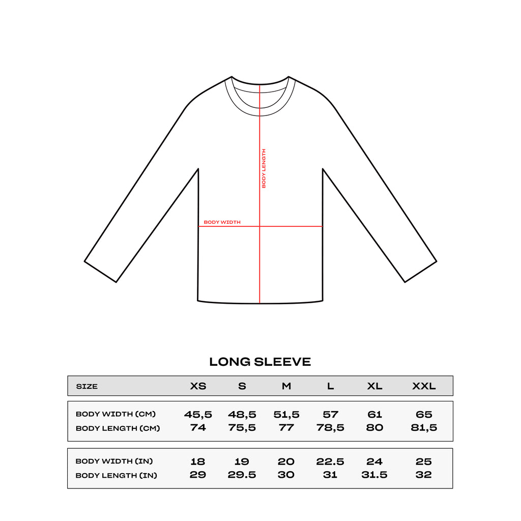 Sizing Long Sleeve