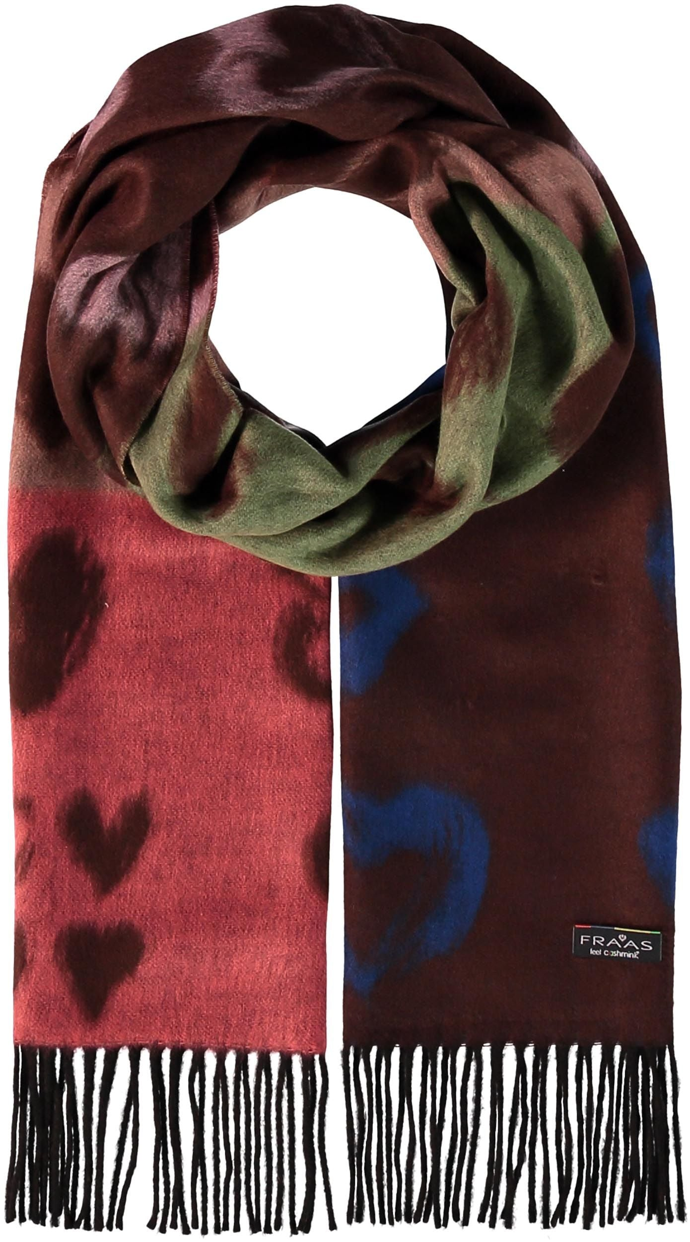 Painted Hearts Oversized Cashmink Scarf