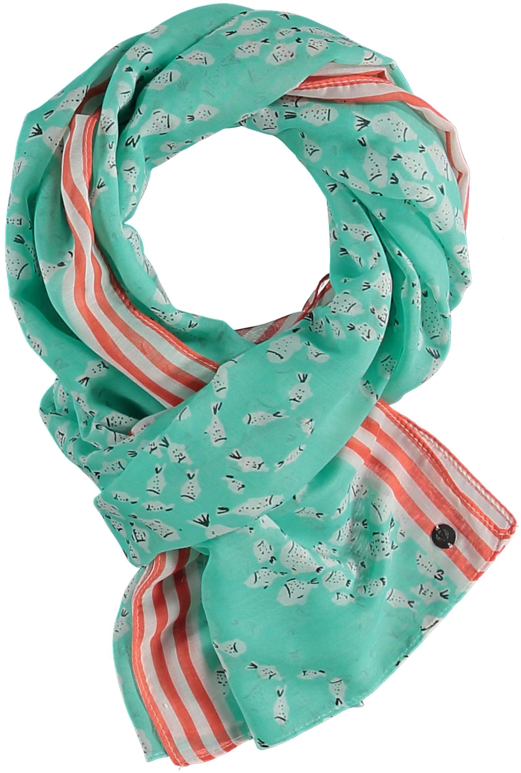 Gone Fishing Polyester Print Scarf