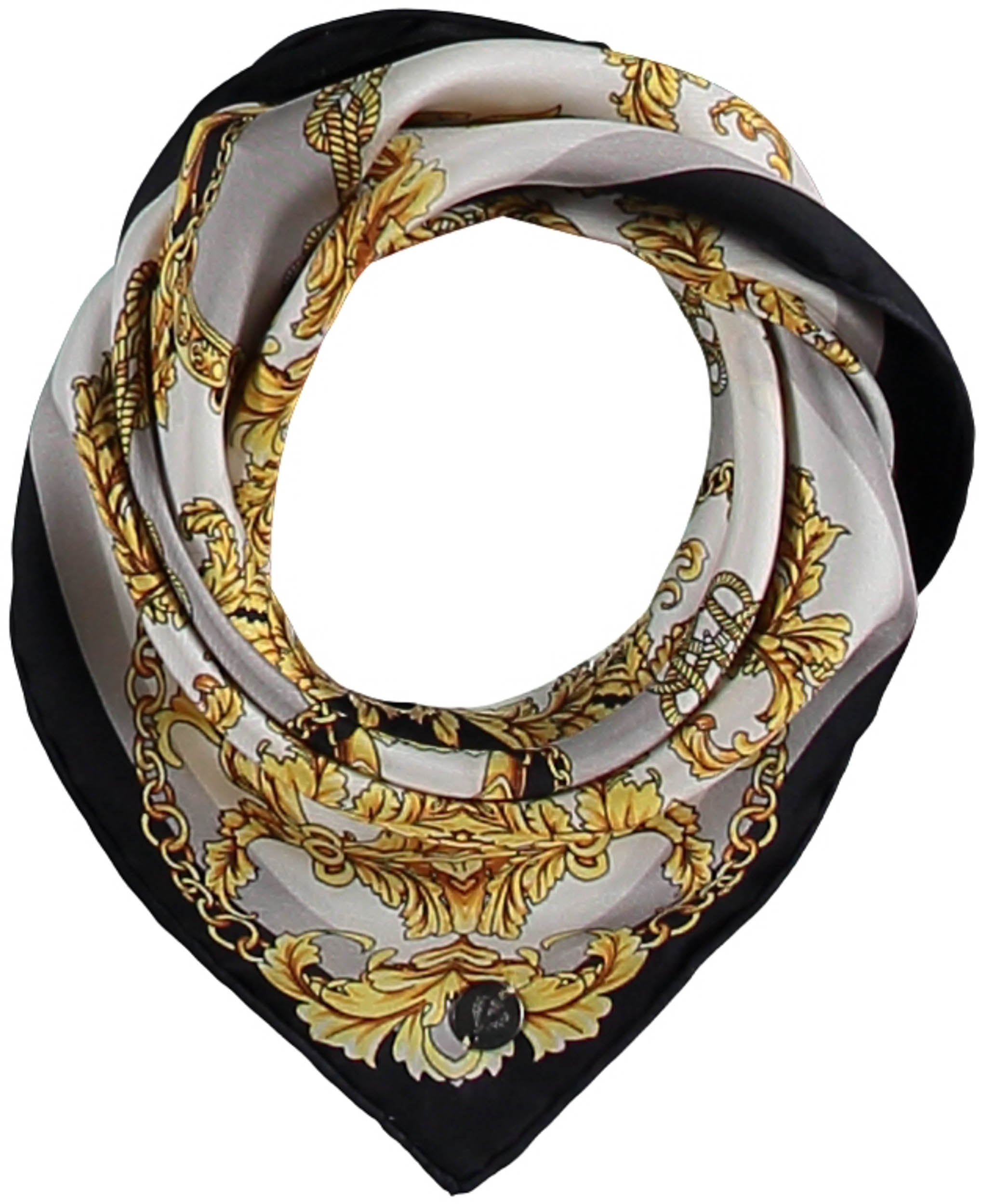 FRAAS Baroque Silk Square Printed Neckie