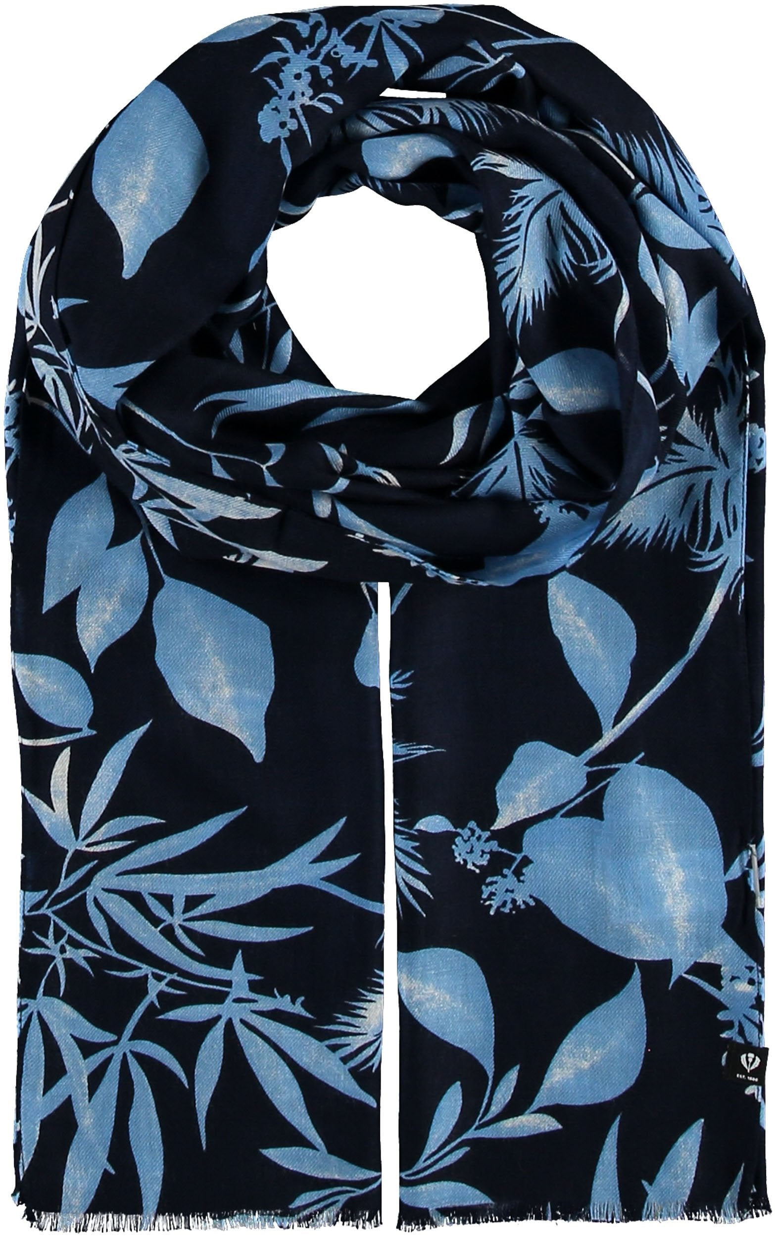 Sustainability Edition Leaves Sustainable Viscose Printed Scarf