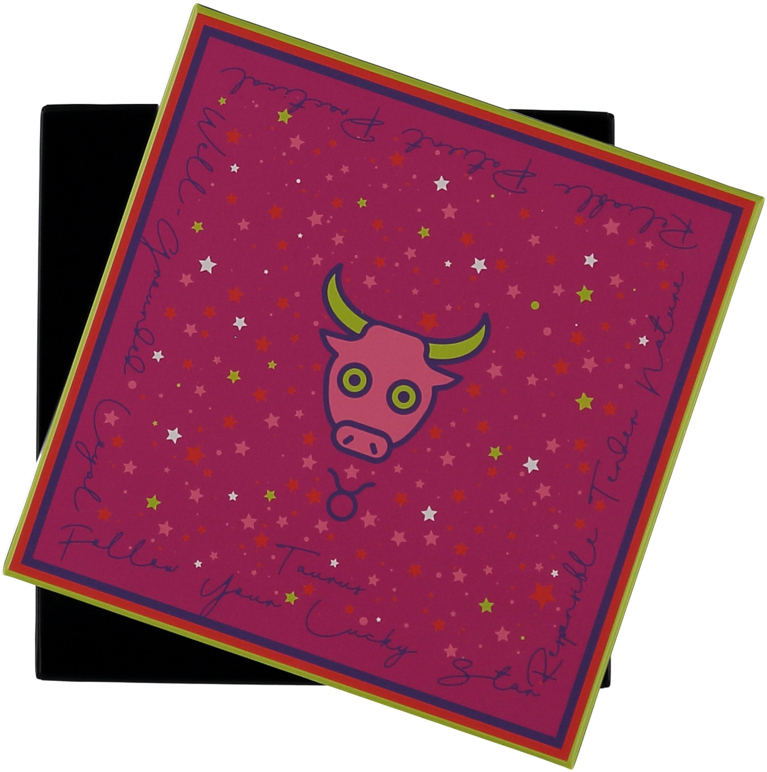 Taurus Cotton Silk Square Printed Neckie in Gift Box