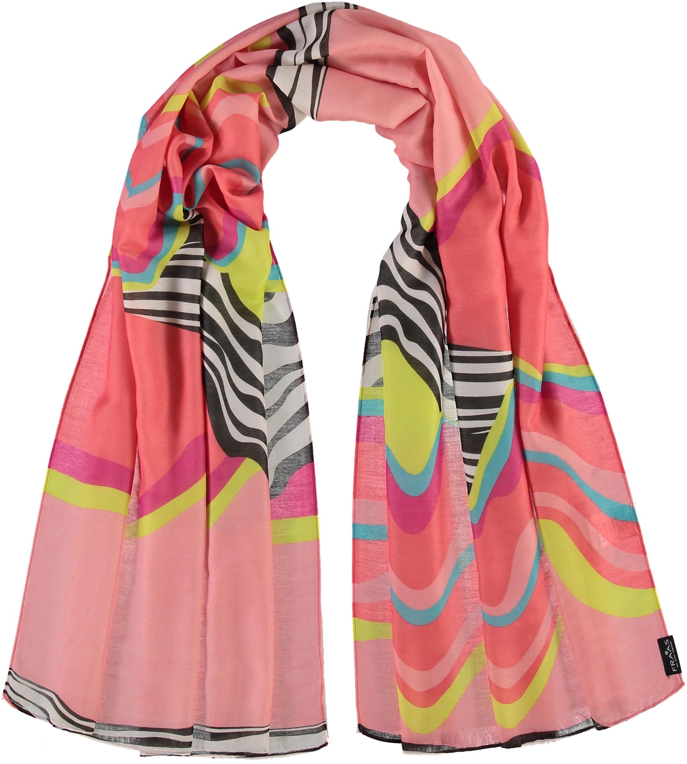 Graphic Waves Polyester Printed Scarf