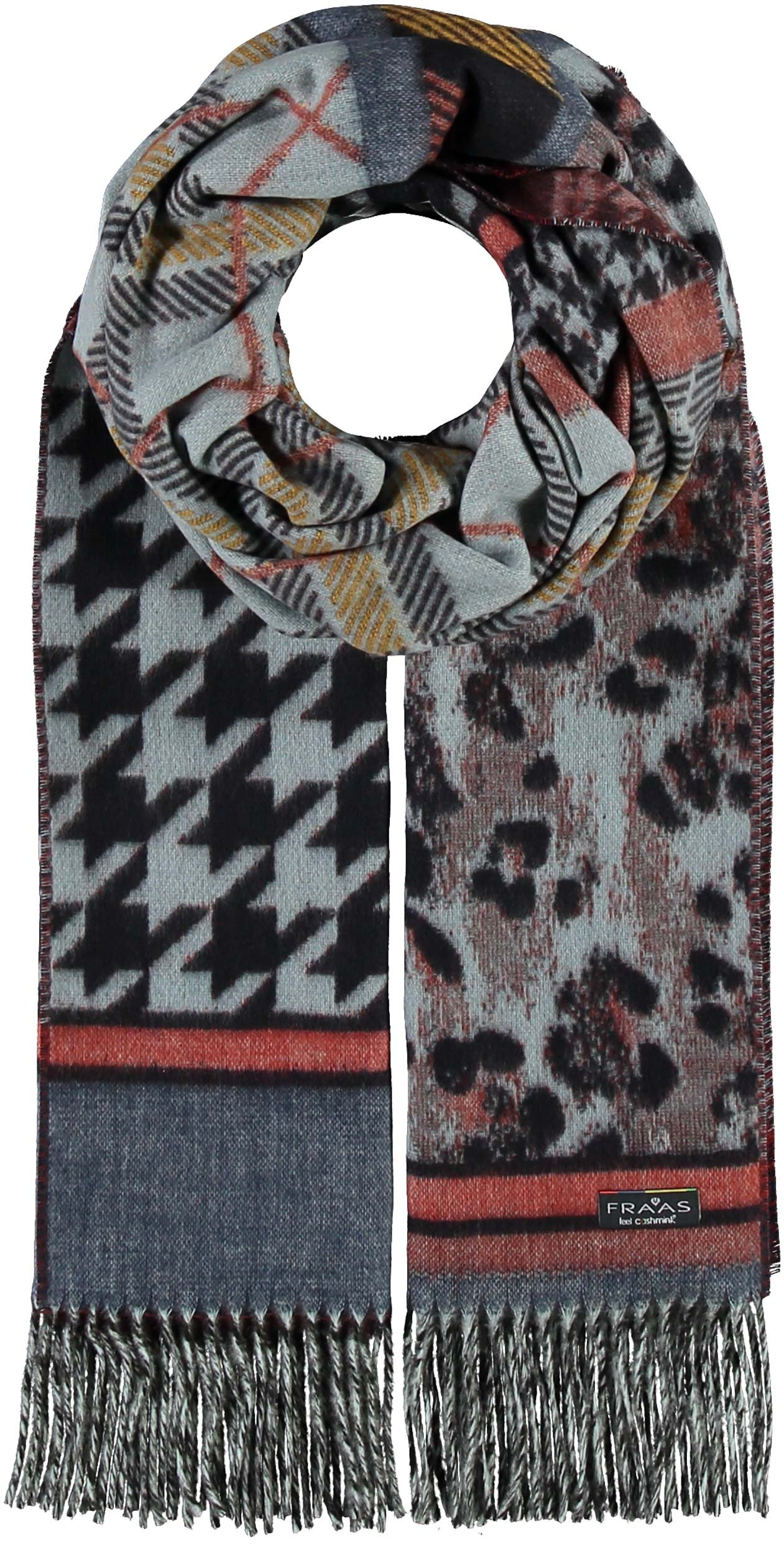 Animal Patchwork Oversized Woven Cashmink® Wrap Scarf