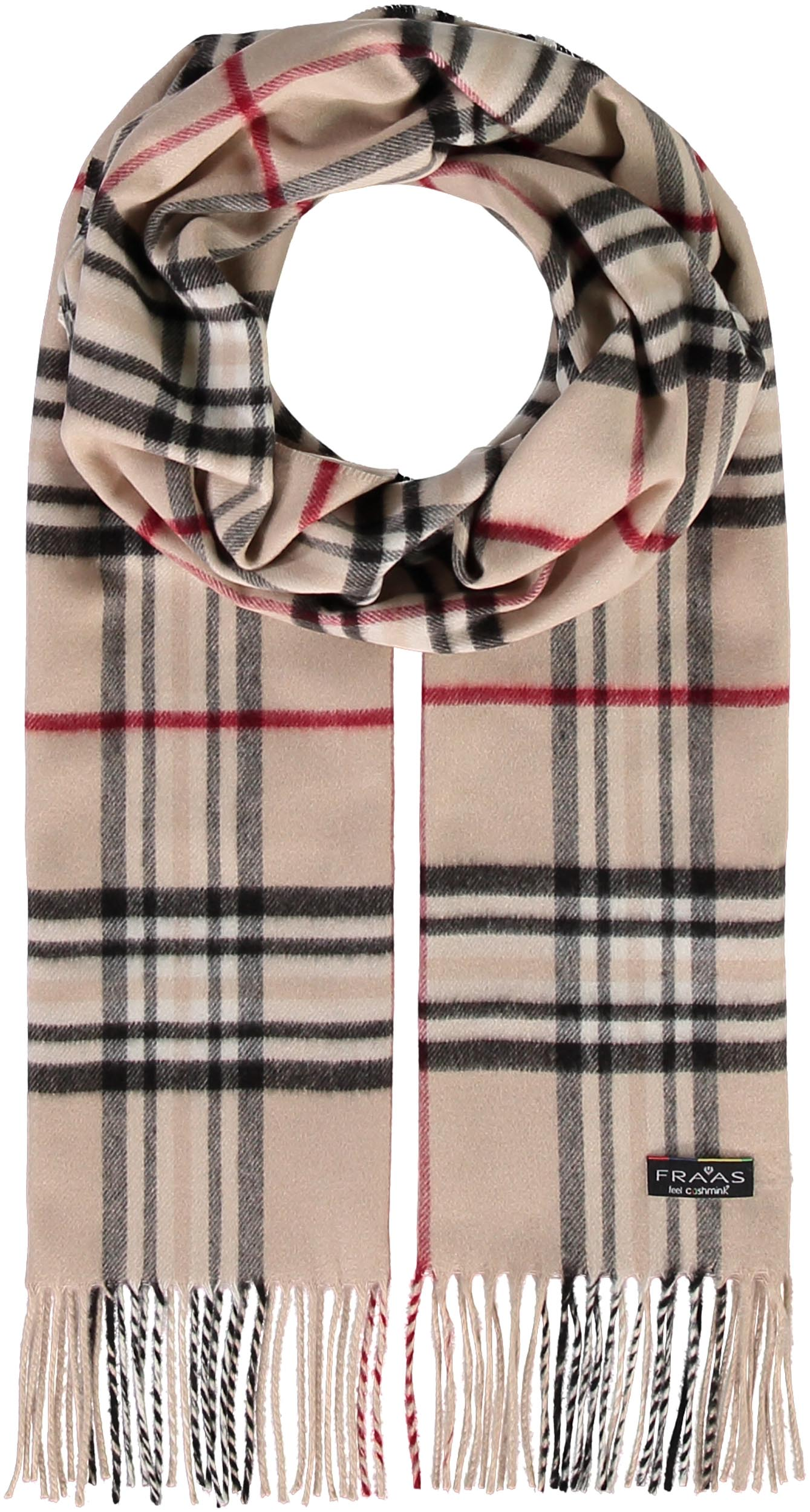 FRAAS Plaid Oversized Cashmink® Scarf