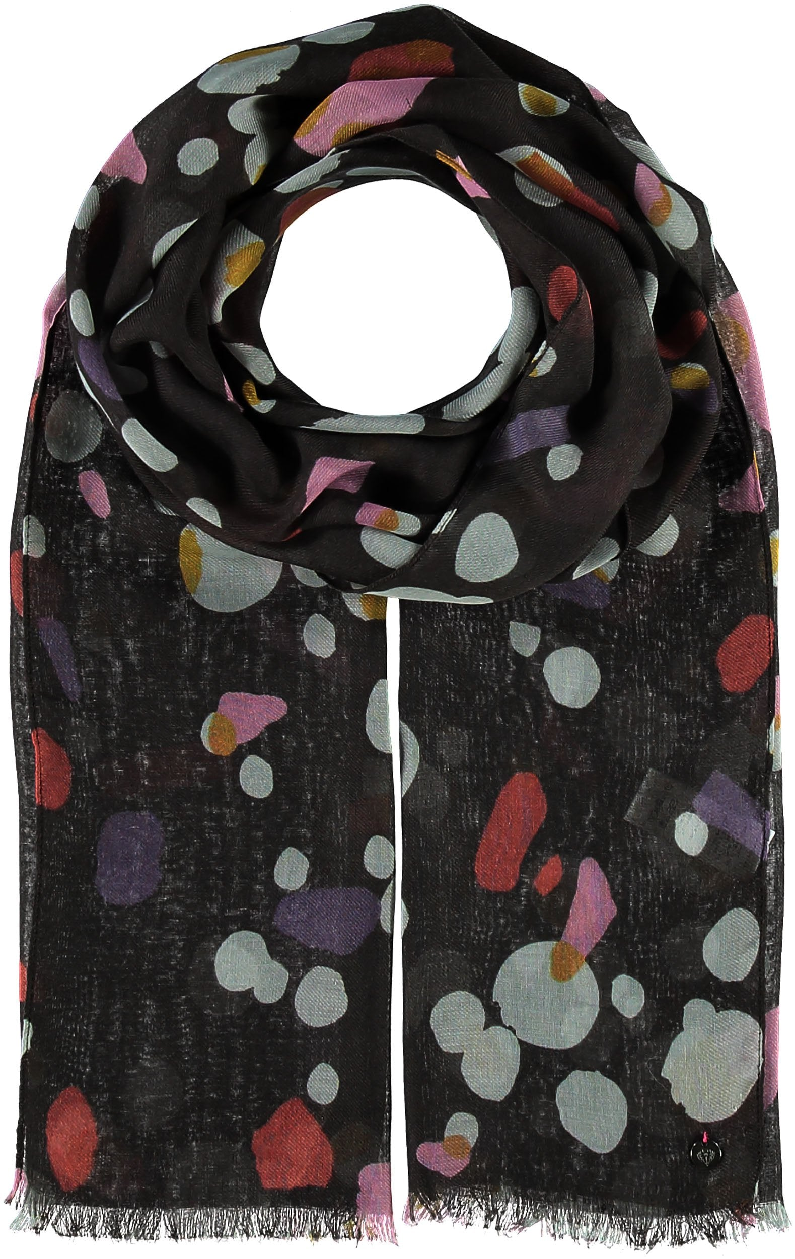 Cosmos Polyester Print Scarf