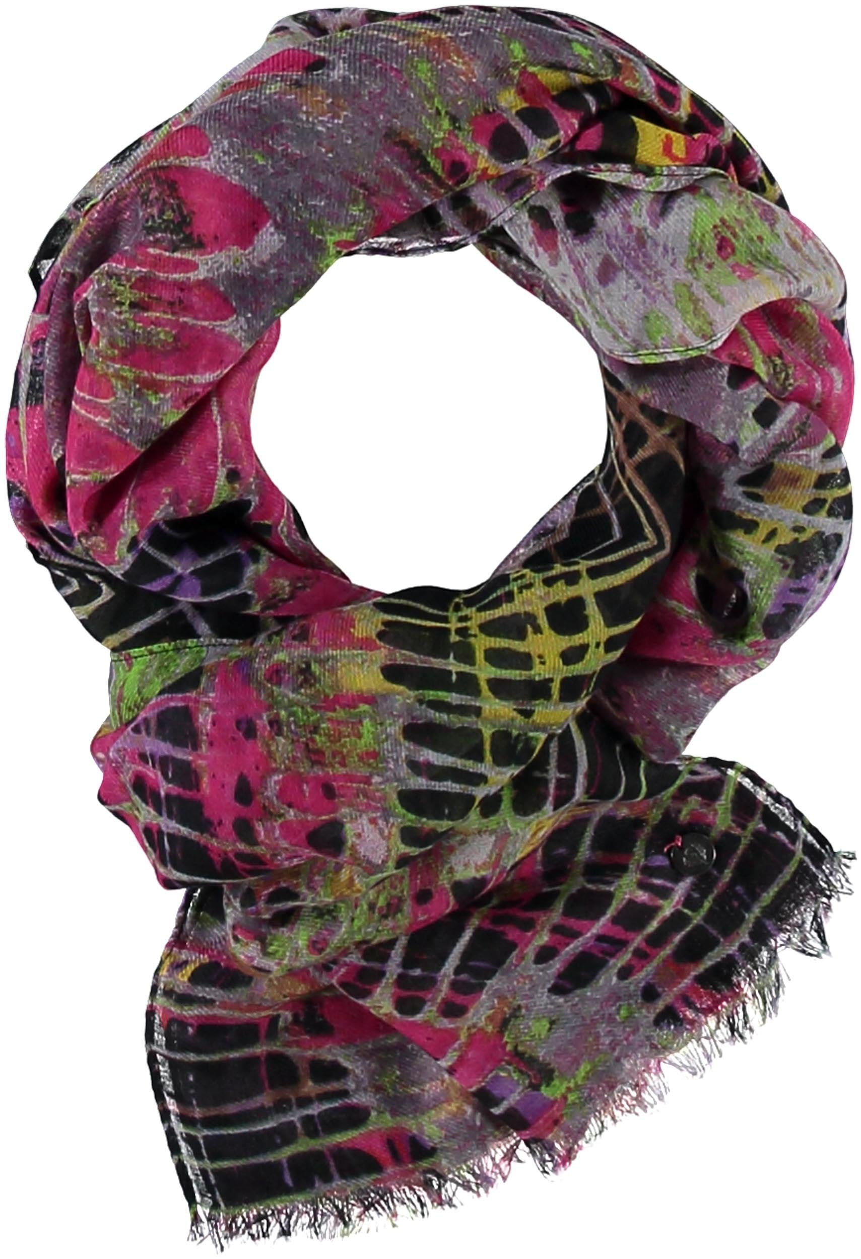 Spin Art Polyester Print Scarf