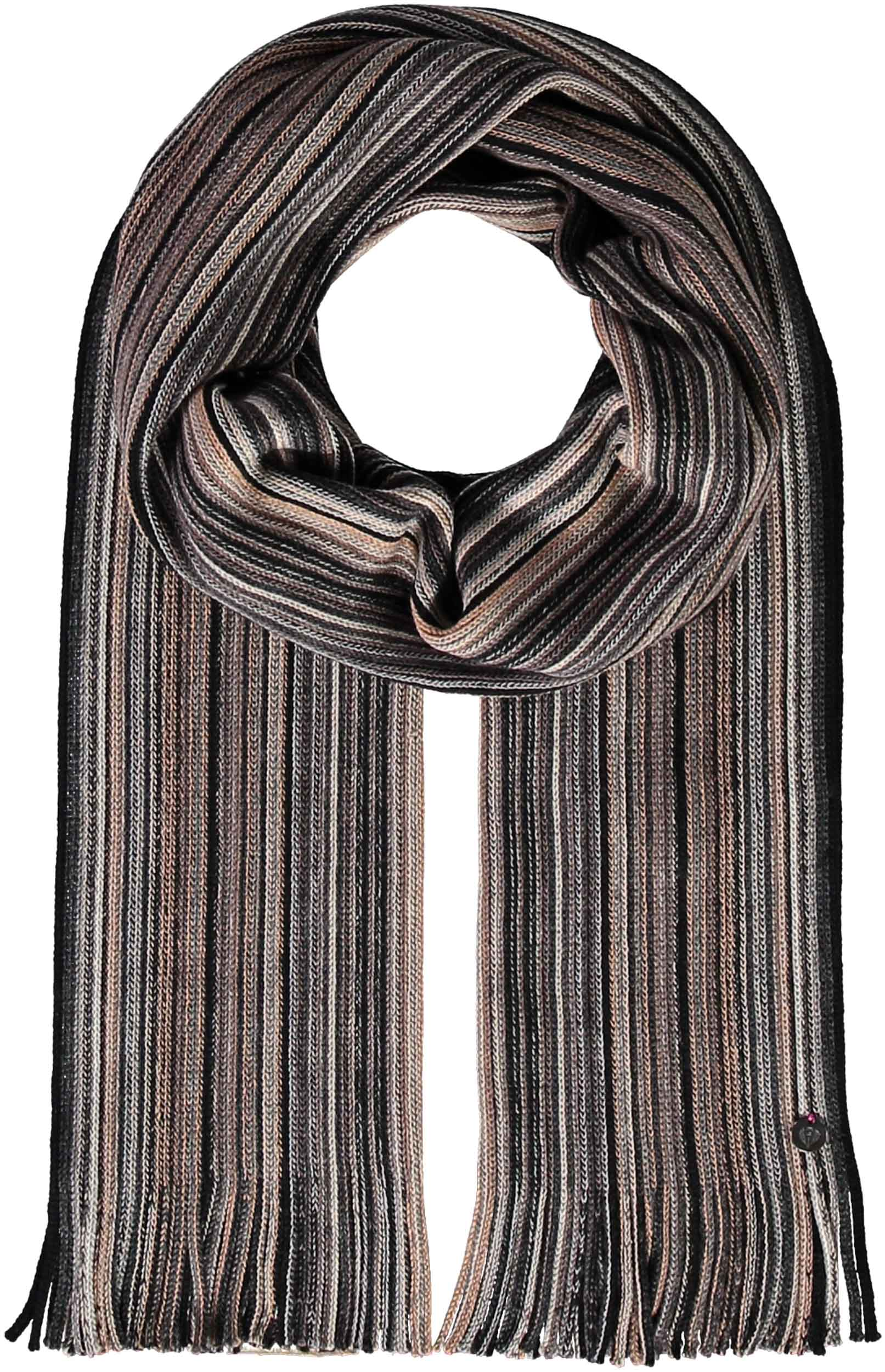Mini Stripe Wool Raschel Scarf