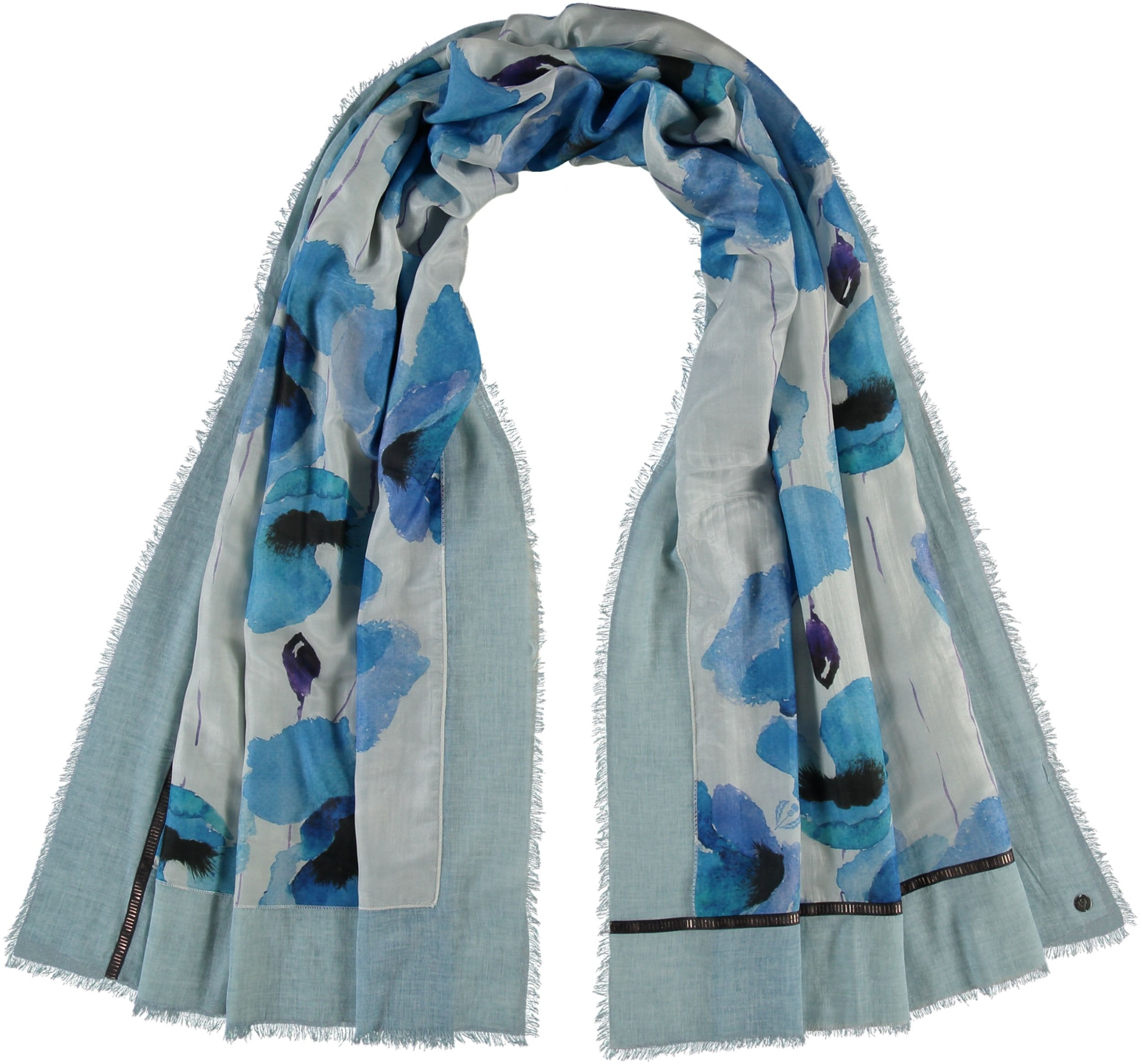 Poppies Cold Dyed Patchwork Cotton Silk Wrap