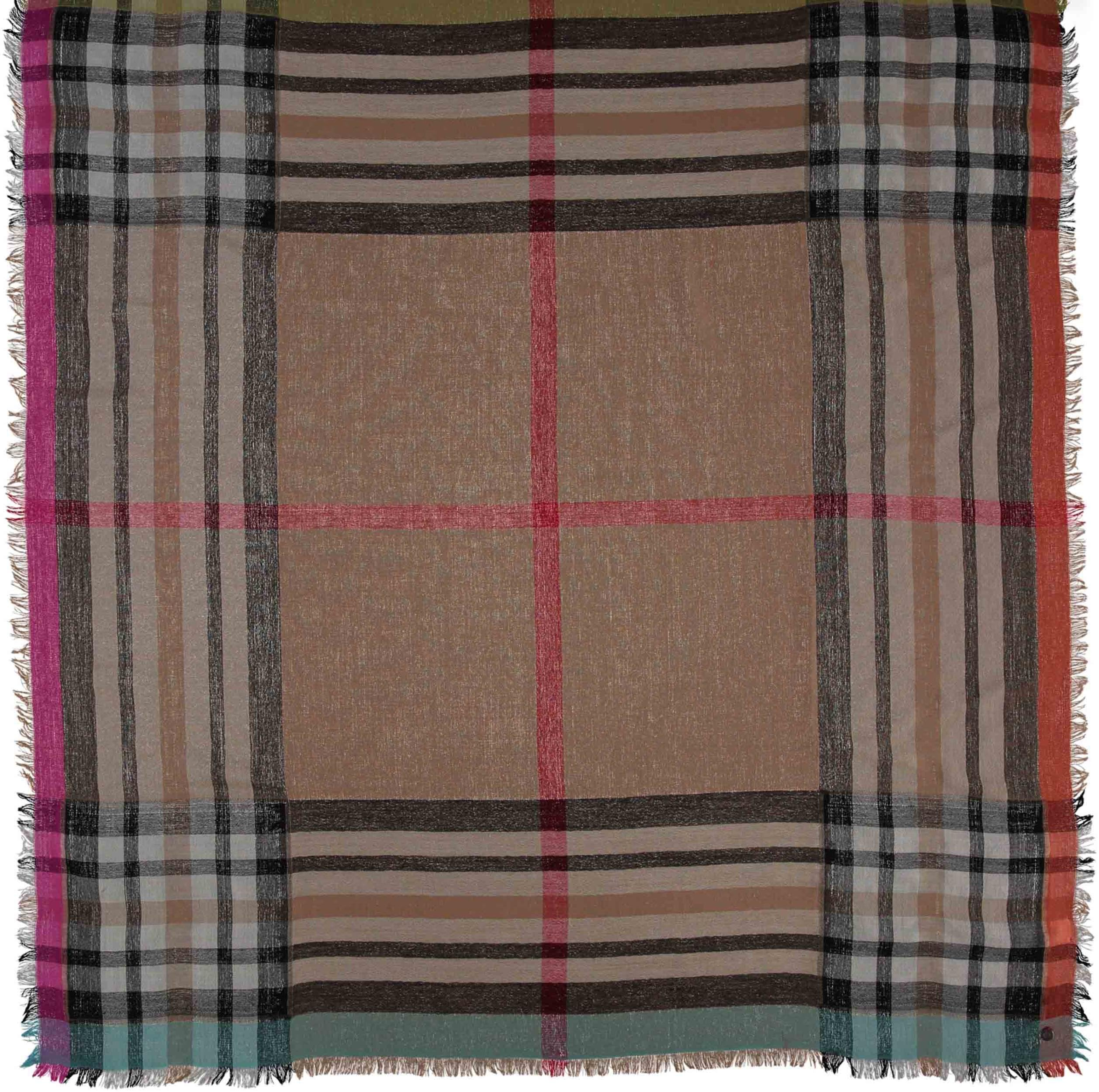 Funky Fraas Plaid Lightweight Wool Woven Square