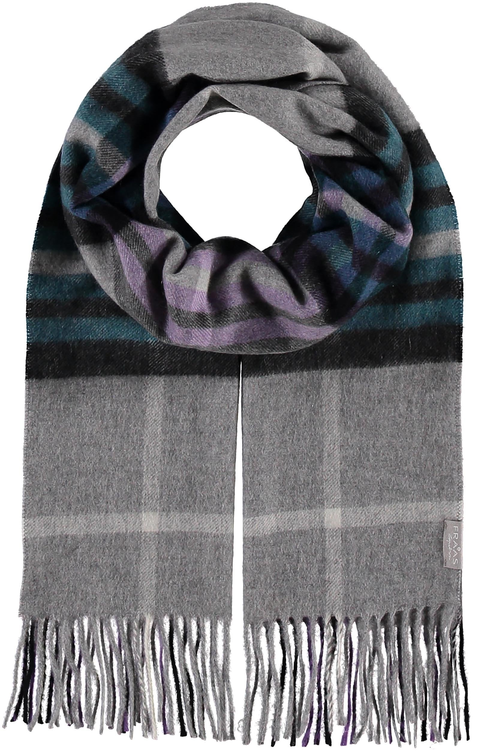 Fraas Plaid Pop Signature Cashmere Woven Scarf