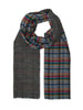 Double Face Madras Plaid Check Woven Cashmink Scarf