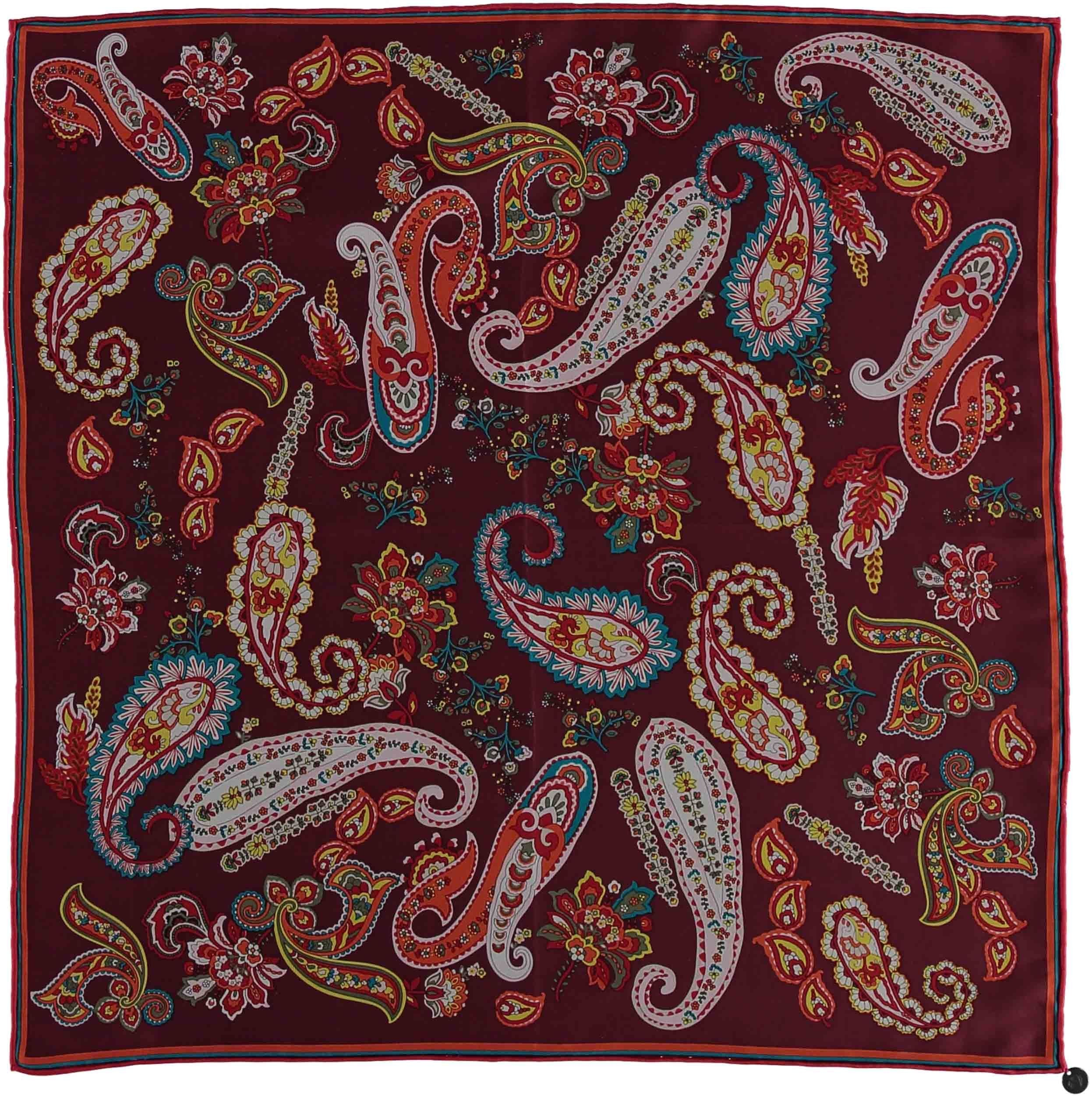 Perfect Paisley Silk Square Printed Neckie